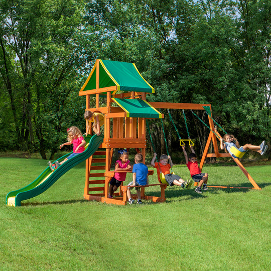 Backyard Discovery Playsets - Tucson Wooden Swing Set#main