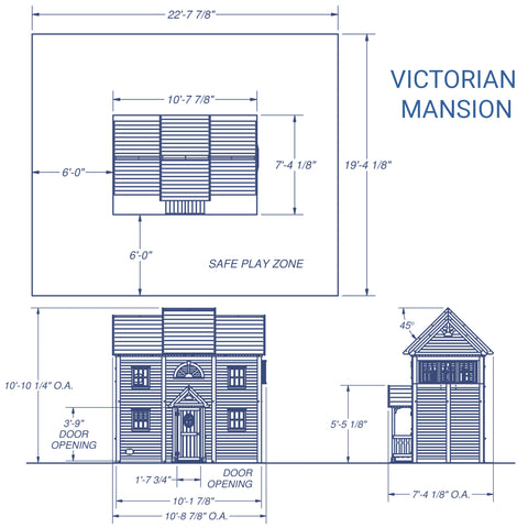 Backyard Discovery-Victorian Mansion Playhouse #details