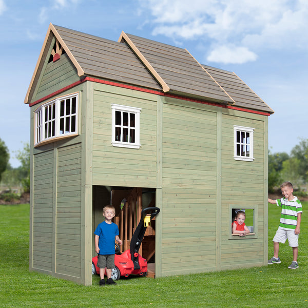 Victorian mansion playhouse playsets backyard discovery for Victorian play house
