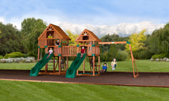 Vista Wooden Swing Set #wide
