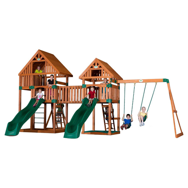 Backyard Odyssey Swing Sets - Vista Wooden Swing Set #features