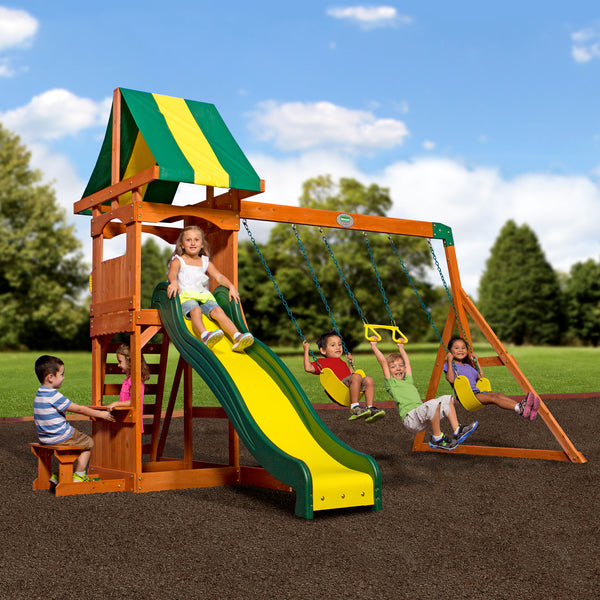Weston Wooden Swing Set Playsets Backyard Discovery