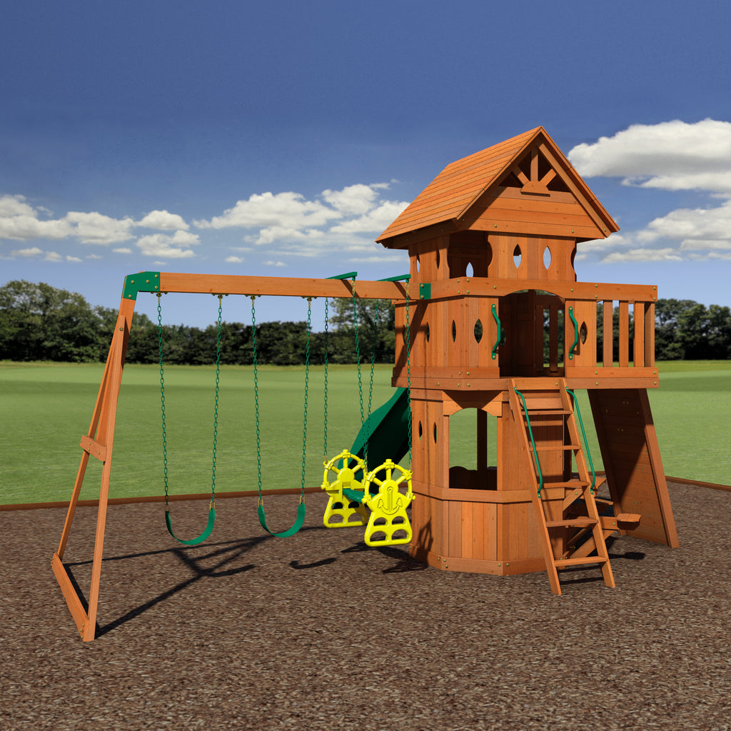 Backyard Discovery Playsets   Woodland Wooden Swing Set