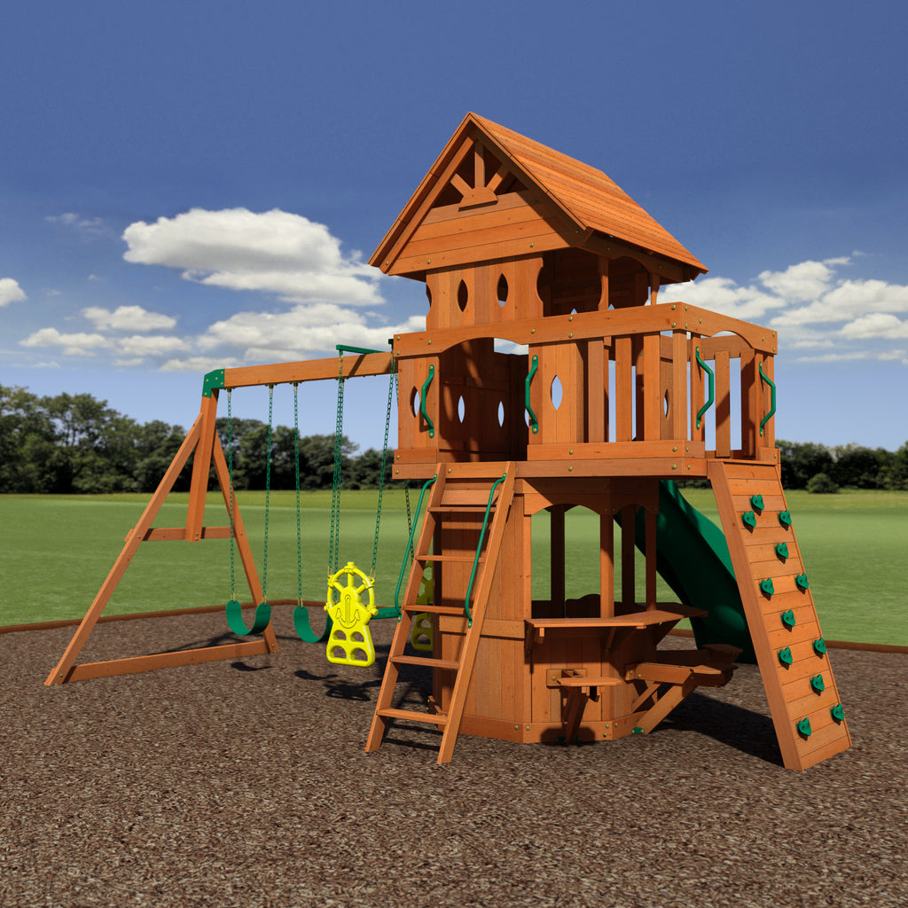 woodland wooden swing set playsets backyard discovery