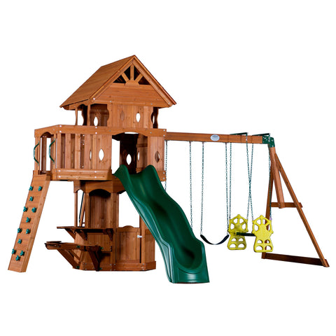 Backyard Discovery Playsets - Woodland Wooden Swing Set #features