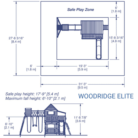 Backyard Discovery - Woodridge Elite Wooden Swing Set#details
