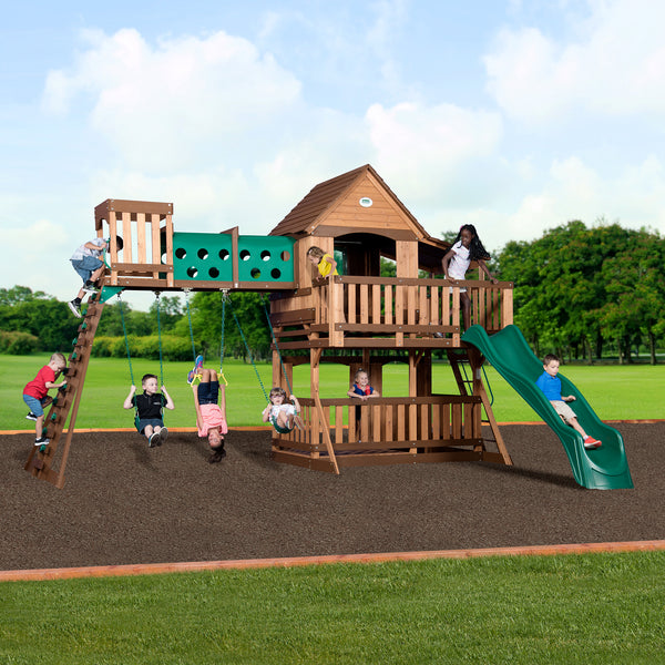 Woodridge Elite Wooden Swing Set