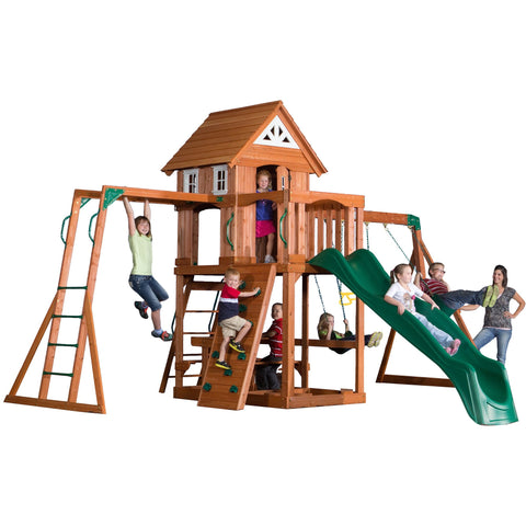 Backyard Discovery Playsets - Adventurer Wooden Swing Set #features