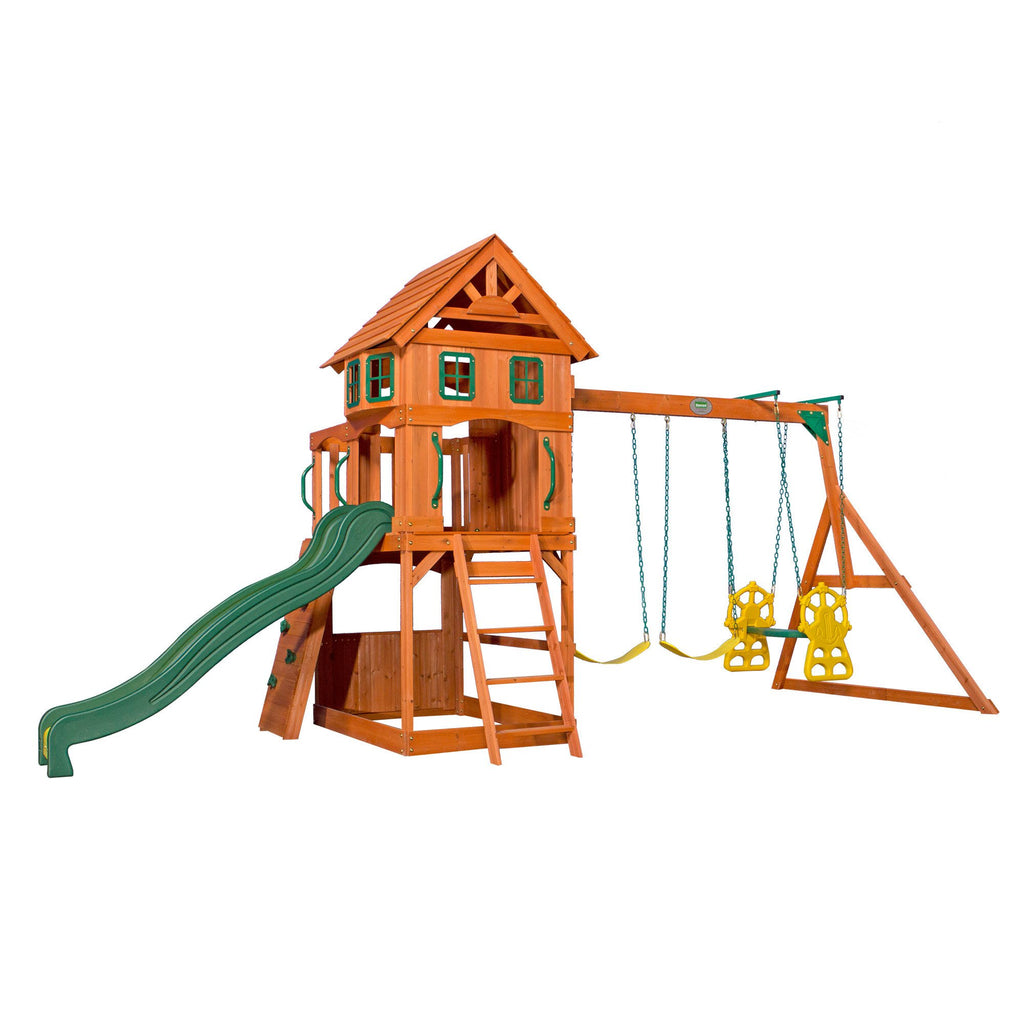 Atlantic Wooden Swing Set Playsets Backyard Discovery
