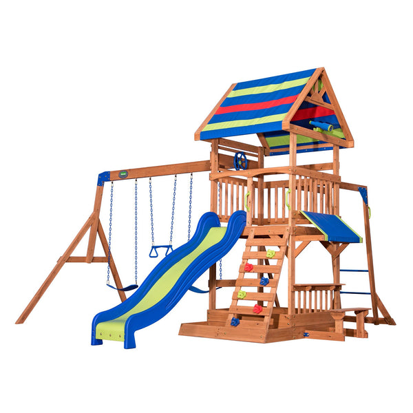 Backyard Discovery Playsets - Beach Front Wooden Swing Set #features