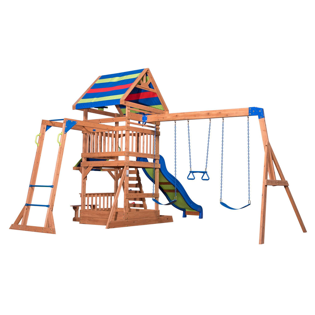 Backyard Discovery Playsets   Beach Front Wooden Swing Set