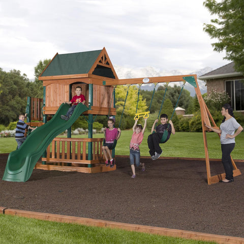 Backyard Discovery Playsets - Brookhaven Wooden Swing Set #header #features