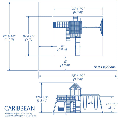 Backyard Discovery Playsets - Caribbean Wooden Swing Set #details