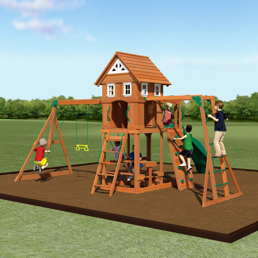 nantucket gorilla playsets depot cedar swing set swings p the for home replacement