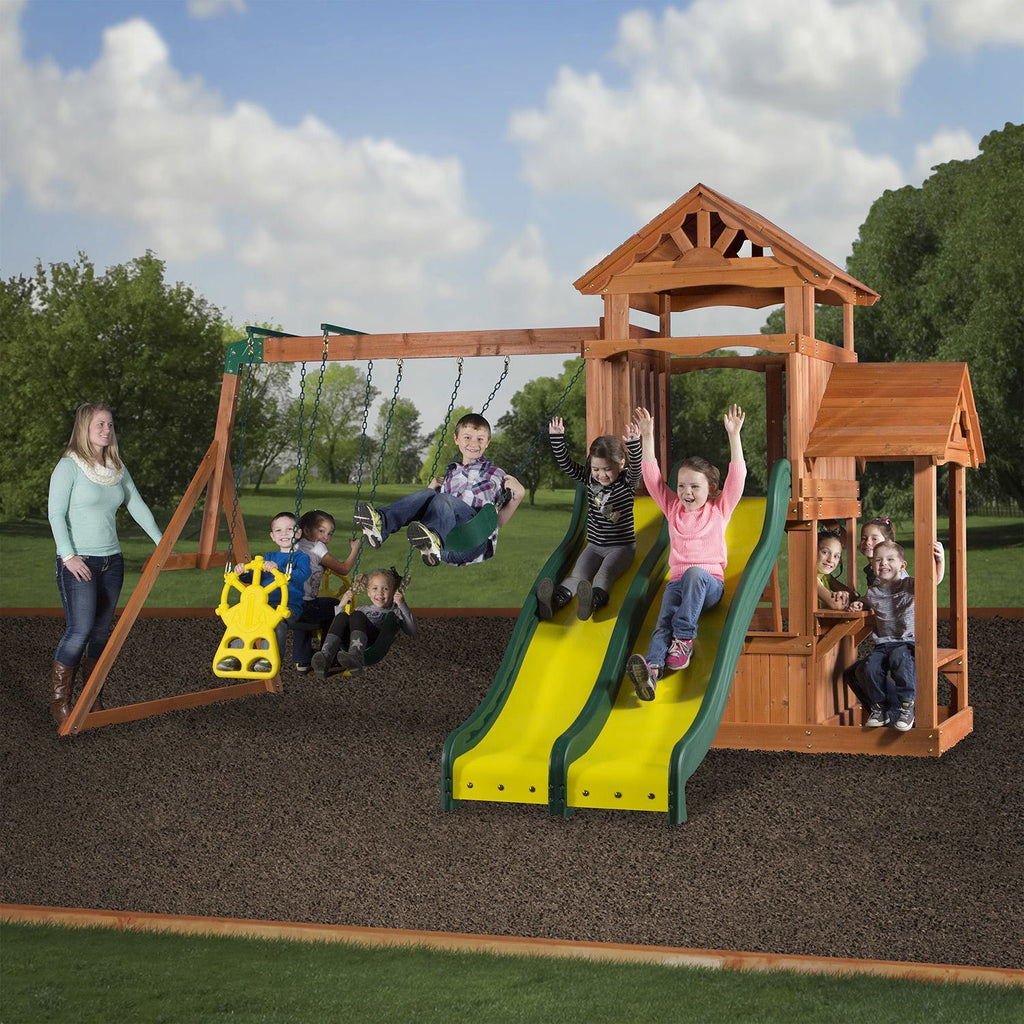 Cedar Play Park Wooden Swing Set