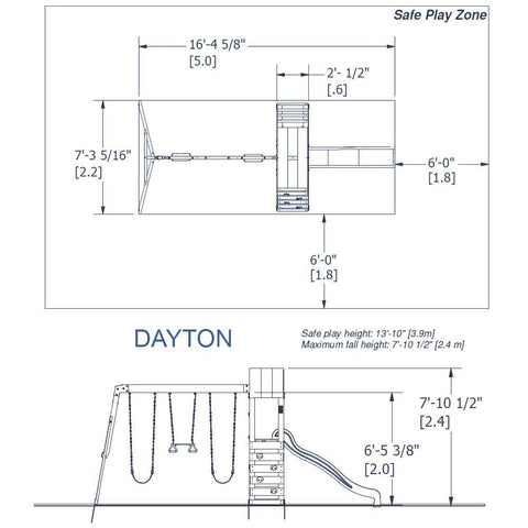 Backyard Discovery Playsets - Dayton Wooden Swing Set #details