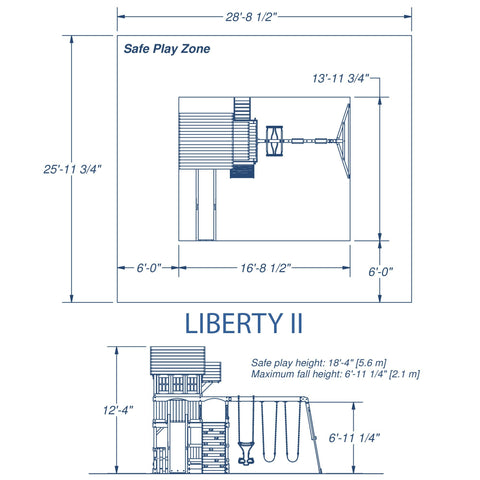 Backyard Discovery Playsets - Liberty II Wooden Swing Set #details