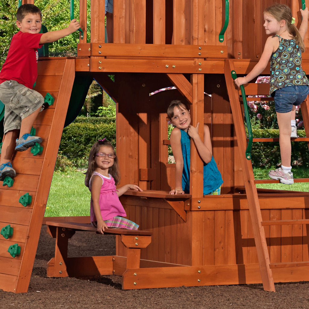 Monterey Wooden Swing Set - Playsets   Backyard Discovery