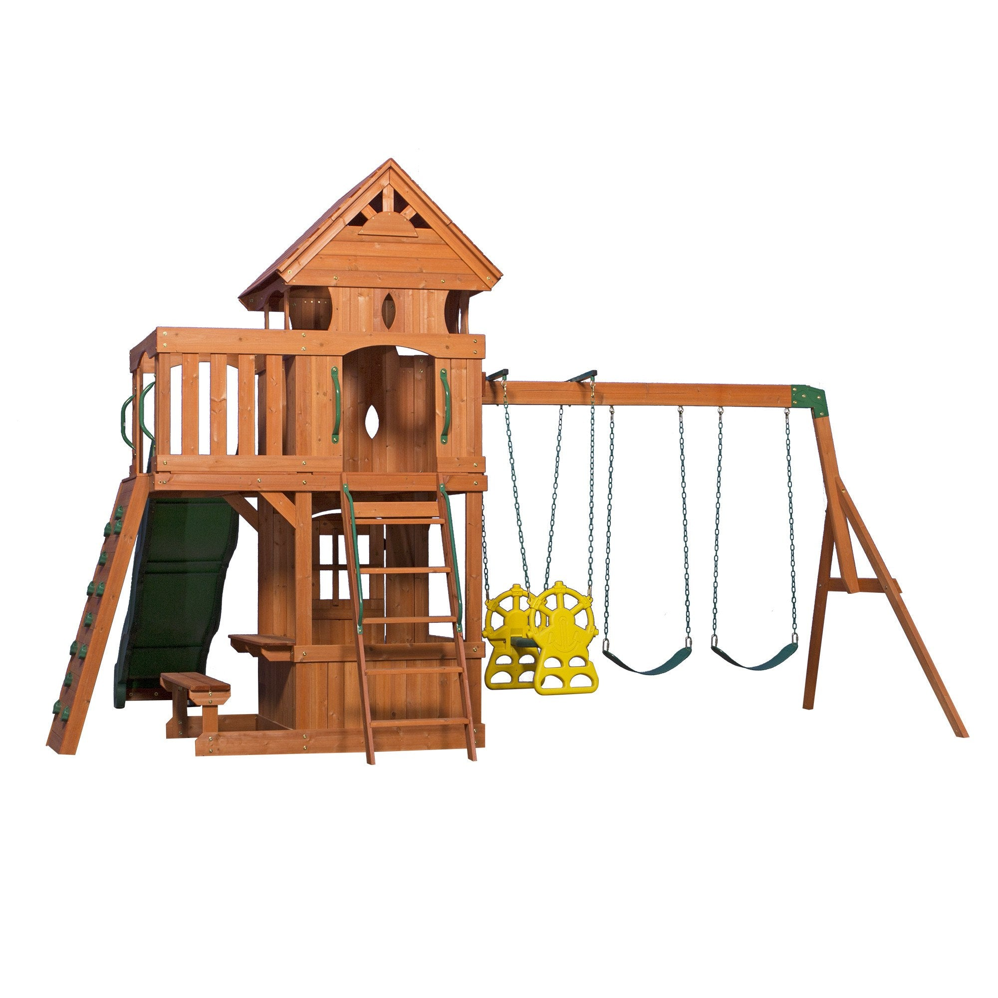 Monterey wooden swing set playsets backyard discovery for T shaped swing set