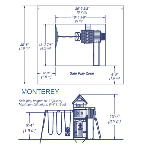 Backyard Discovery Playsets - Monterey Wooden Swing Set #details