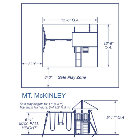 Backyard Discovery - Mount McKinley Swing Set #details