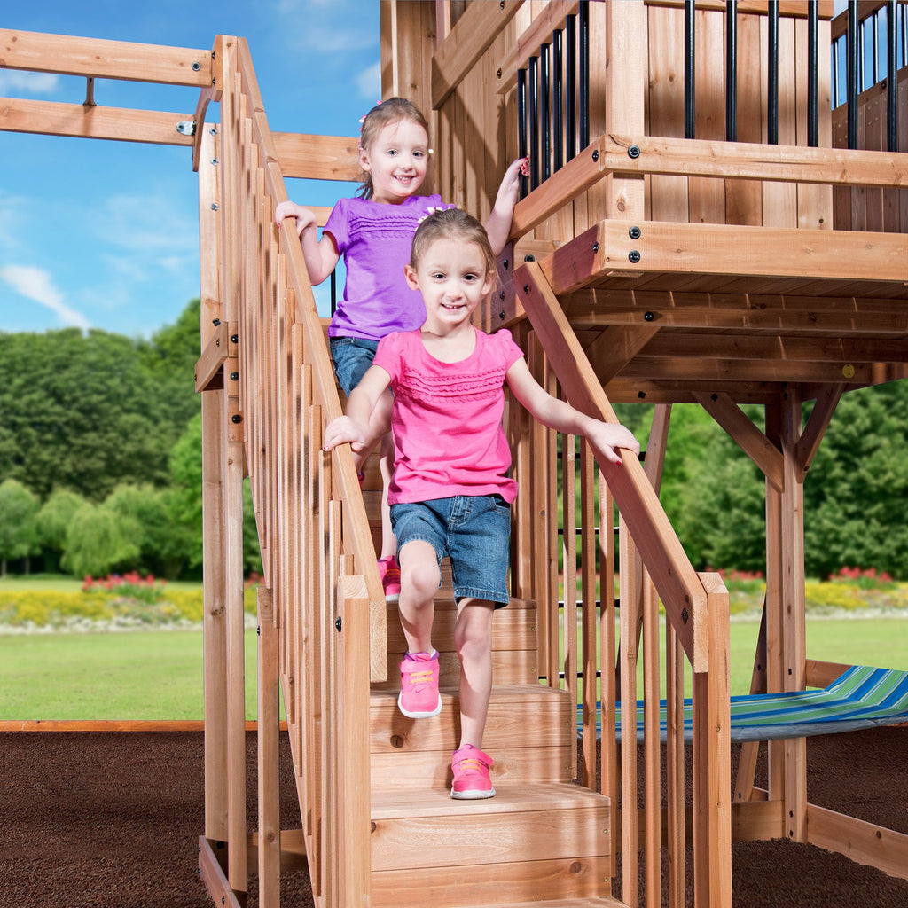 Oceanview Wooden Swing Set - Playsets   Backyard Discovery