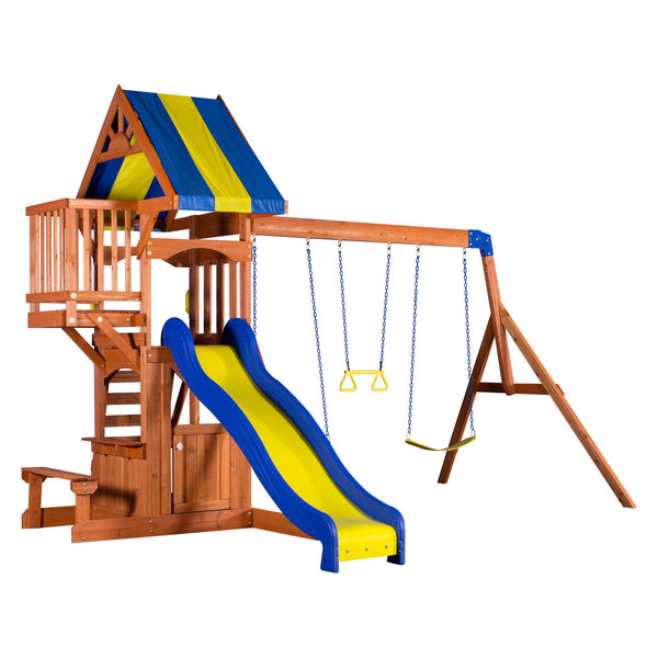 Backyard Discovery Playsets - Peninsula Wooden Swing Set #features