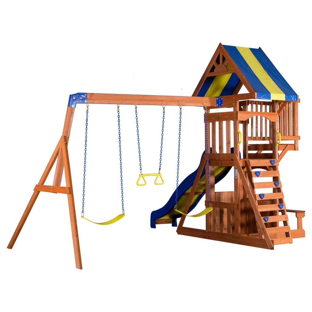 Incroyable Backyard Discovery Playsets   Peninsula Wooden Swing Set