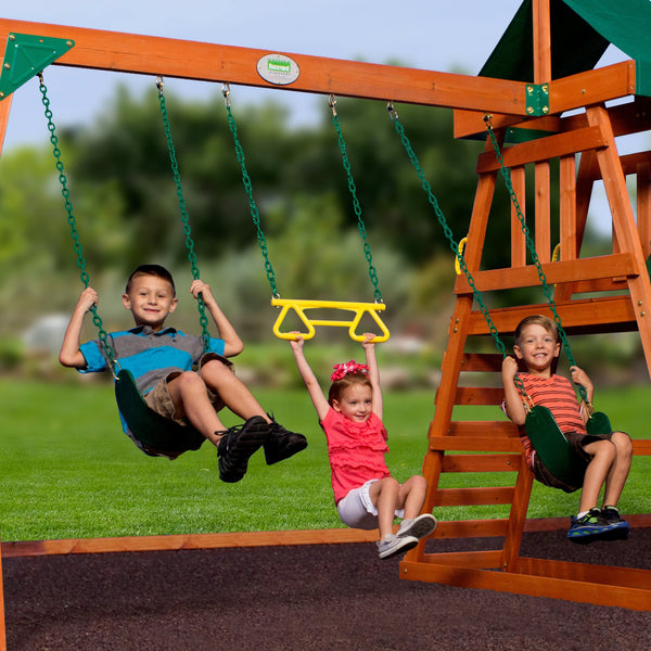 Prescott Wooden Swing Set Playsets Backyard Discovery