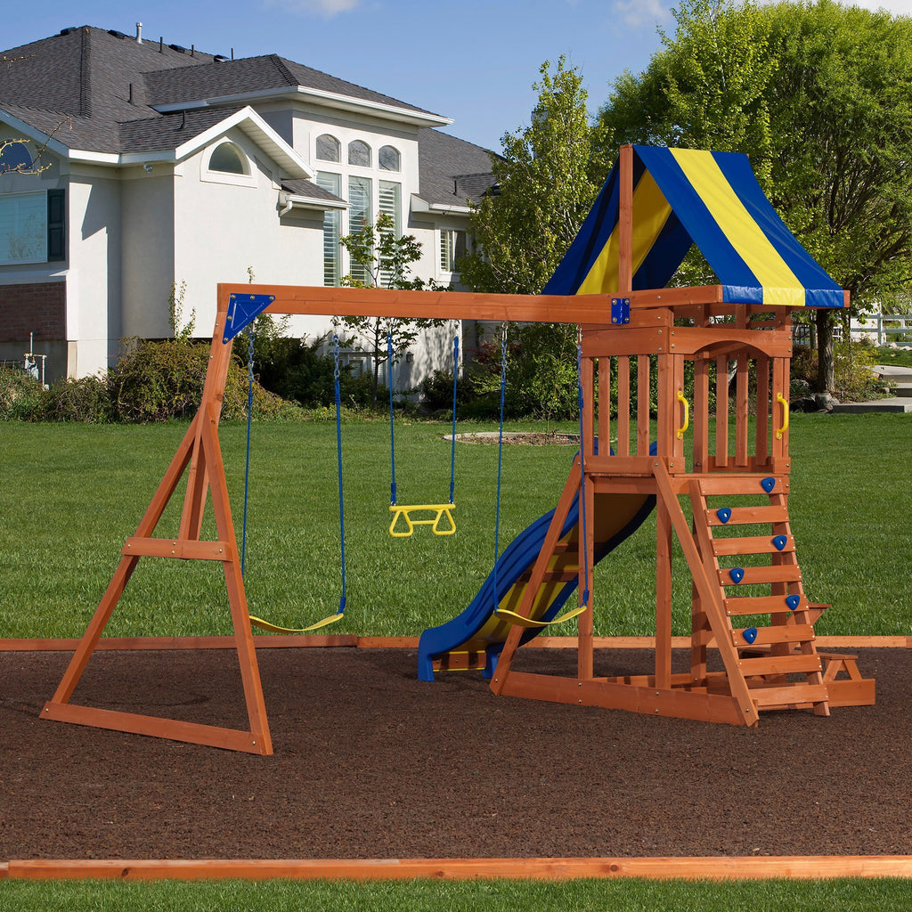 Providence Wooden Swing Set - Playsets | Backyard Discovery