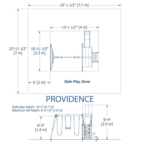 Backyard Discovery Playsets - Providence Wooden Swing Set #details
