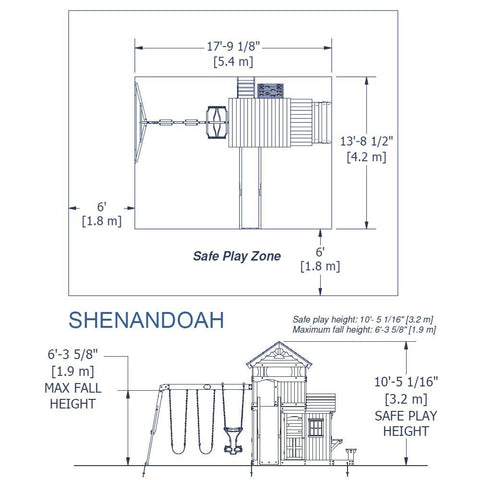 Backyard Discovery Playsets - Shenandoah Wooden Swing Set #details