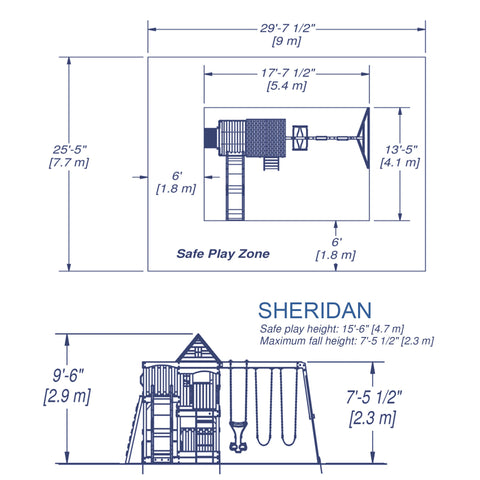 Backyard Discovery Playsets - Sheridan Wooden Swing Set#details