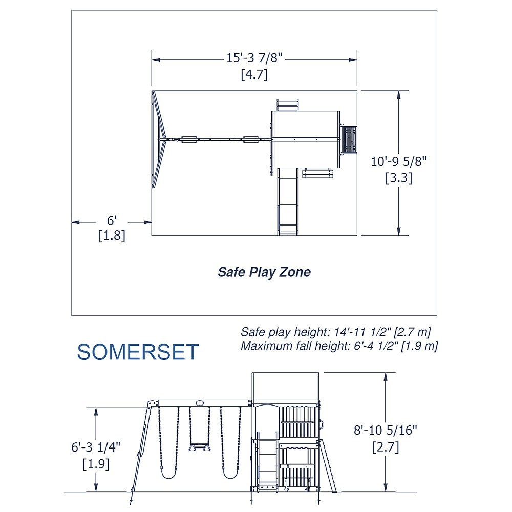 Somerset Wooden Swing Set Playsets Backyard Discovery