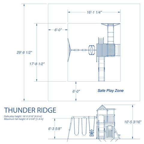 Backyard Discovery Playsets - Thunder Ridge Wooden Swing Set #details