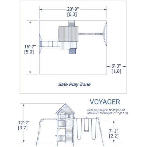 Backyard Discovery Playsets - Voyager Wooden Swing Set #details