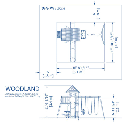 Backyard Discovery Playsets - Woodland Wooden Swing Set #details