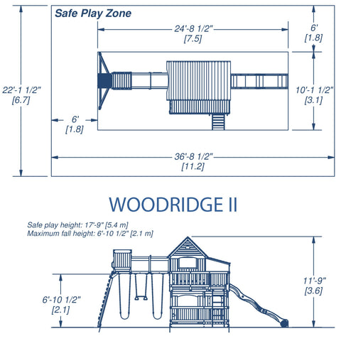 Backyard Discovery Playsets - Woodridge II Wooden Swing Set #details