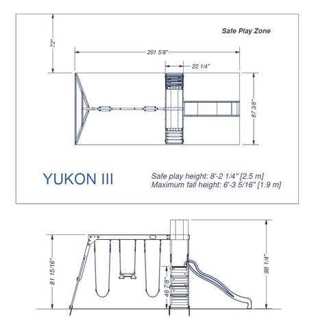 Backyard Discovery Playsets - Yukon III Wooden Swing Set #details