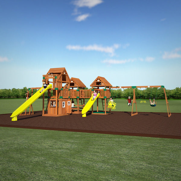 Backyard Odyssey Swing Sets - Rustic Mountain #header #features
