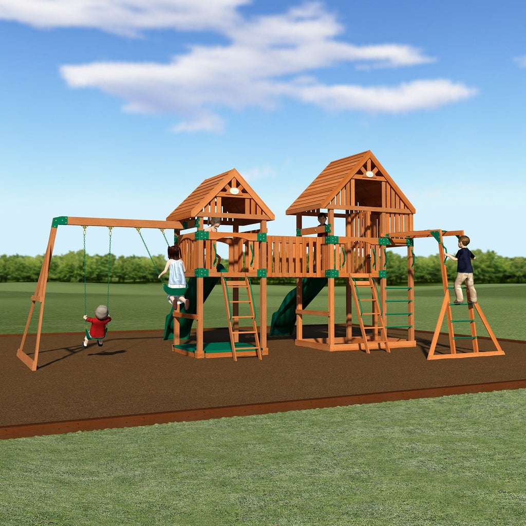 vista wooden swing set playsets backyard discovery