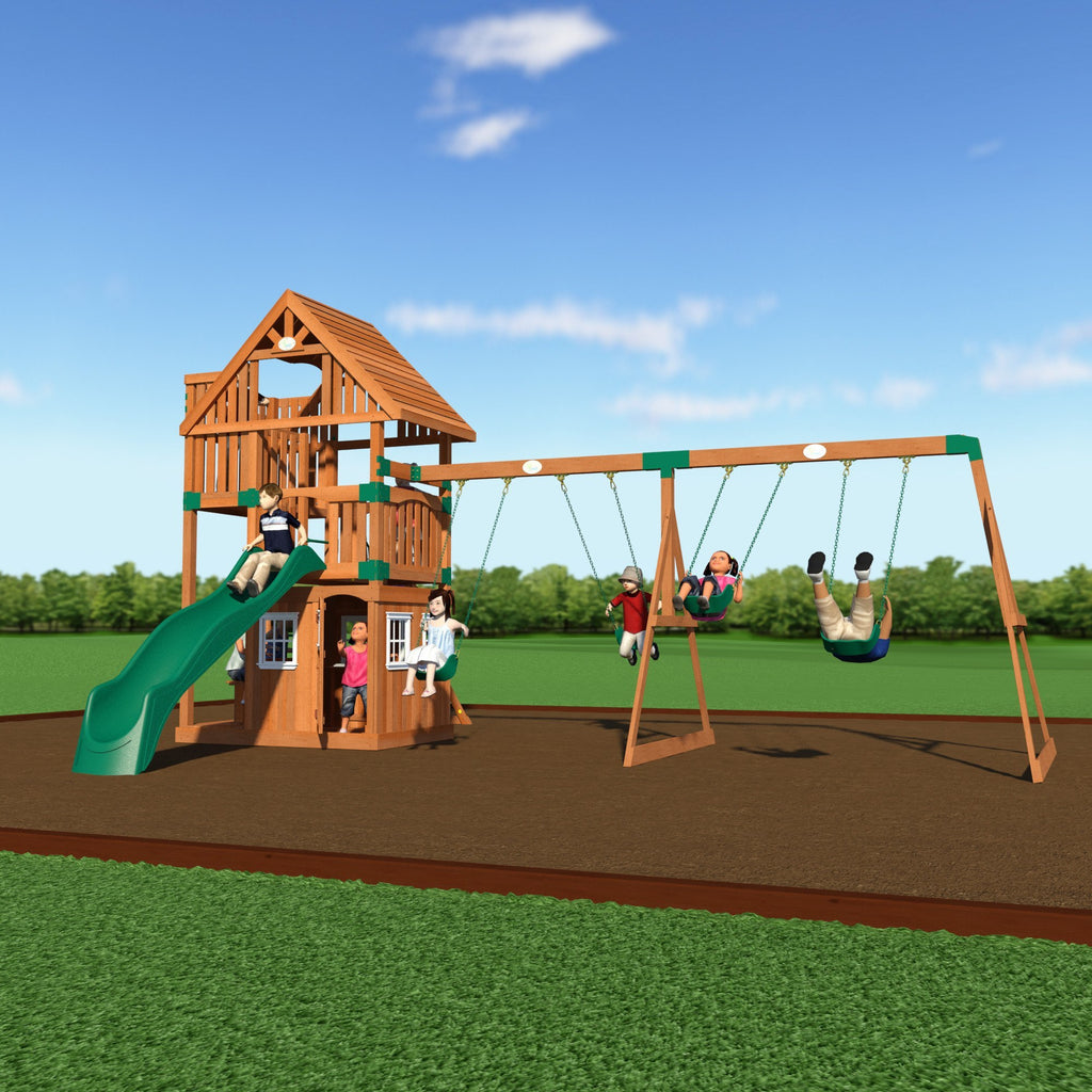 Backyard Odyssey Swing Sets   Wanderer Wooden Swing Set