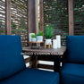 Fireside Cabana Pergola Indigo Cushion Color