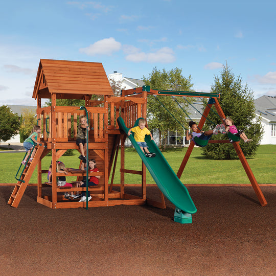 Magellan Wooden Swing Set #main