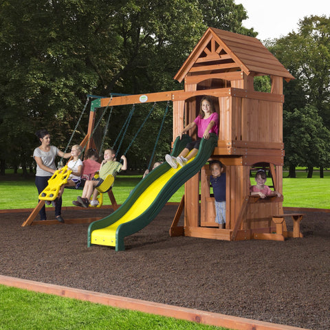 Nla - Brookfield Wooden Swing Set #header #features