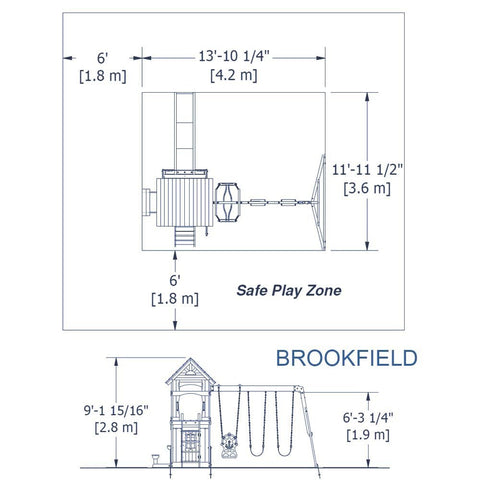 Nla - Brookfield Wooden Swing Set #details