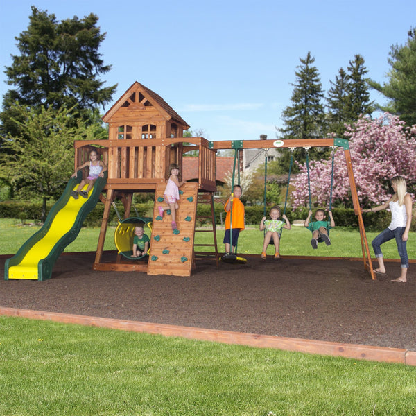 Nla - Cedar View Wooden Swing Set #header #features