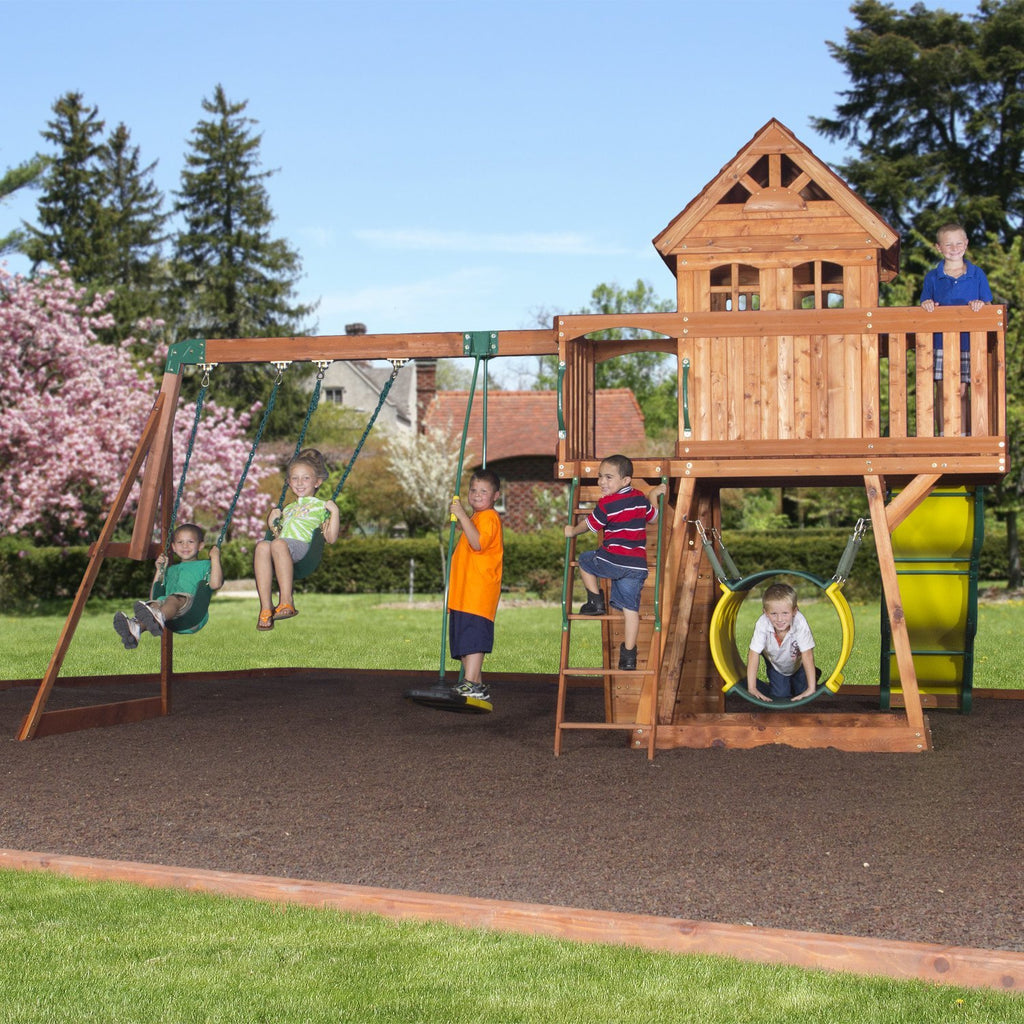 Bon Nla   Cedar View Wooden Swing Set