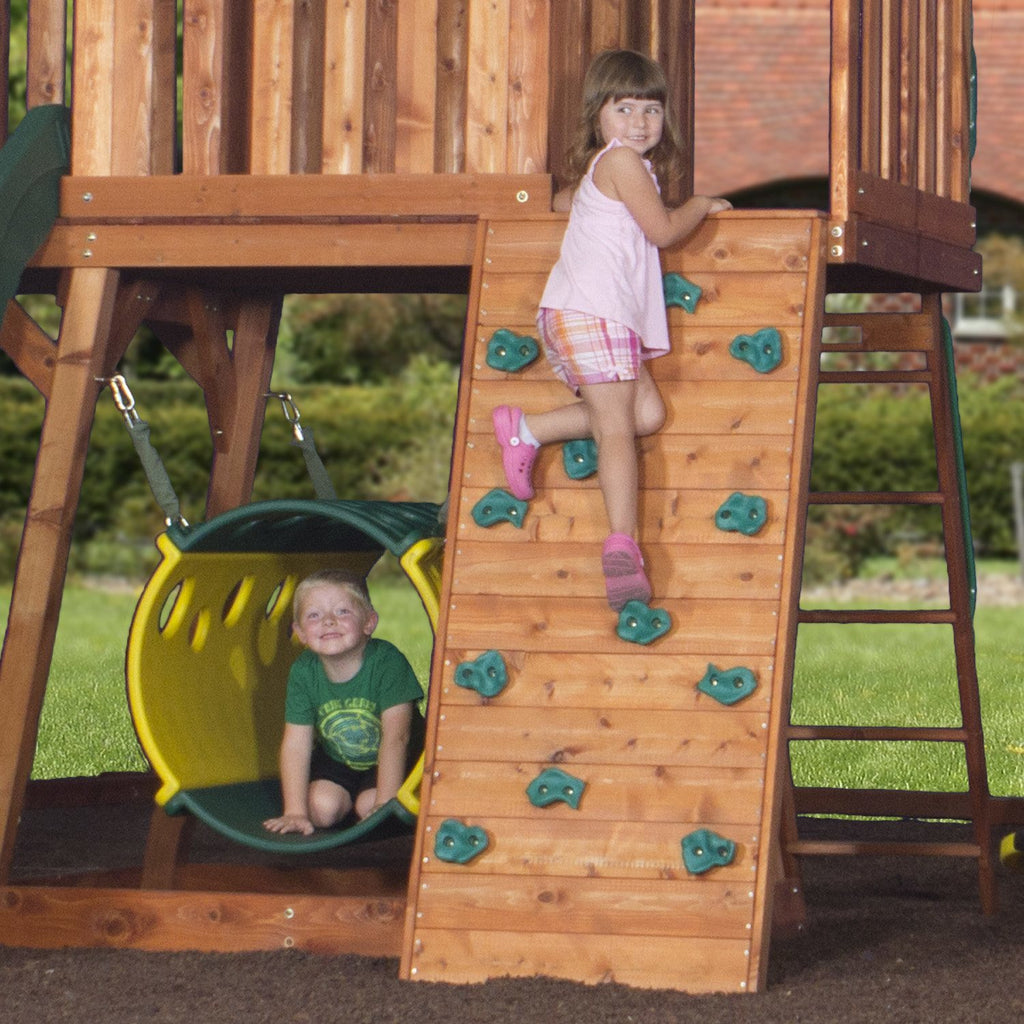 Incroyable Nla   Cedar View Wooden Swing Set