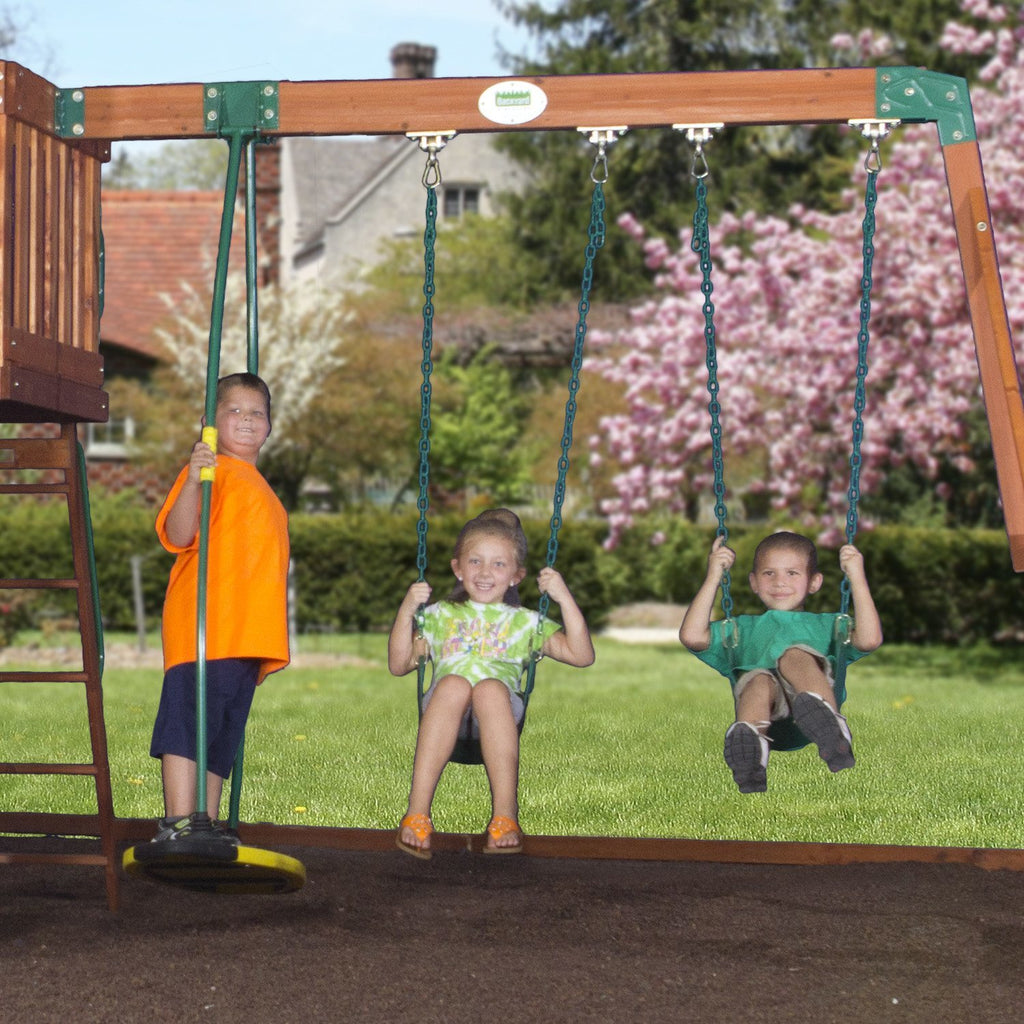 Attirant Nla   Cedar View Wooden Swing Set